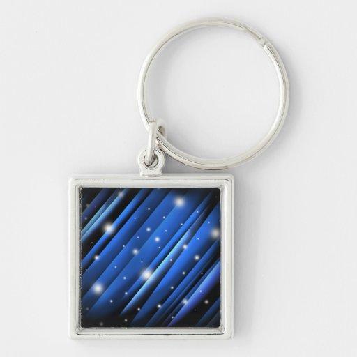 Night Sky Abstract Keychain