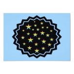 "Night sky and pastel stars 5"" x 7"" invitation card"