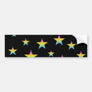 Night sky and pastel stars bumper sticker