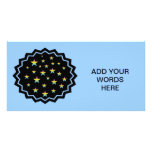 Night sky and pastel stars personalized photo card