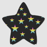 Night sky and pastel stars sticker