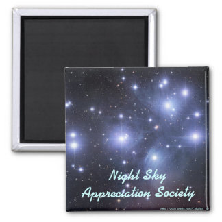 Night Sky Appreciation Society 2 Inch Square Magnet
