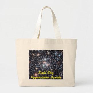 Night Sky Appreciation Society - Yellow Ltr Large Tote Bag