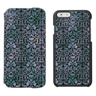 Night Sky Batik Shibori Blue Damask Mottled iPhone 6/6s Wallet Case