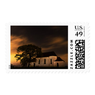 Night Sky Church Postage