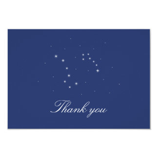 "Night Sky Constellations Thank You 3.5"" X 5"" Invitation Card"