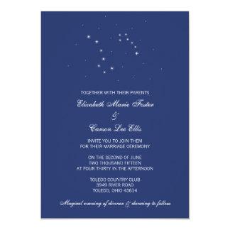 Night Sky Constellations Wedding Card