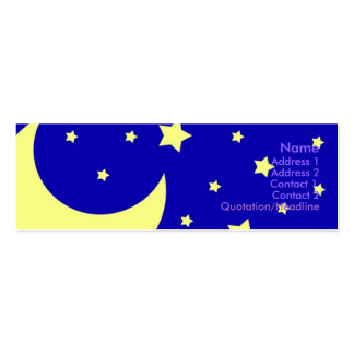 Night Sky Double-Sided Mini Business Cards (Pack Of 20)