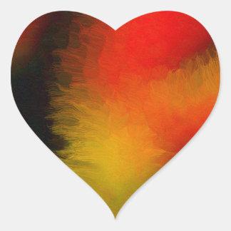 Night Sky Fireball Heart Stickers