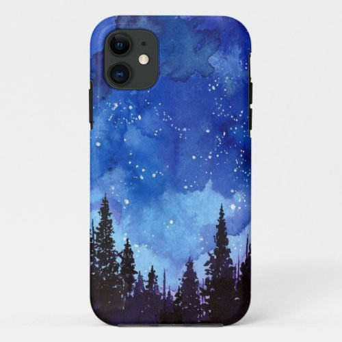 Night Sky forest Phone Case