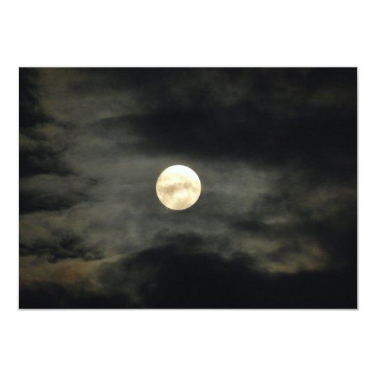 Night Sky - Full Moon and Dark Clouds Card