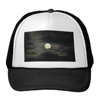 Night Sky - Full Moon and Dark Clouds Trucker Hat