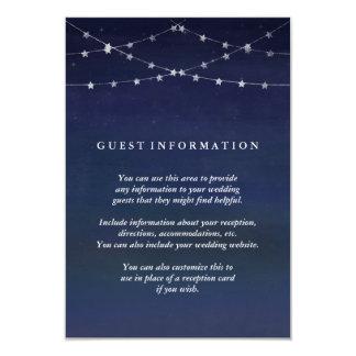 Night Sky Garlands of Stars Wedding Guest Info Card