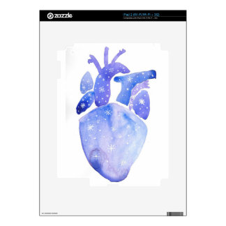 Night Sky Heart Decal For The iPad 2
