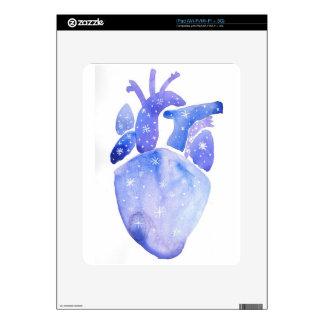 Night Sky Heart Skins For iPad