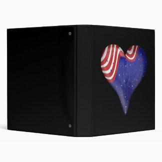 Night Sky Heart Vinyl Binders