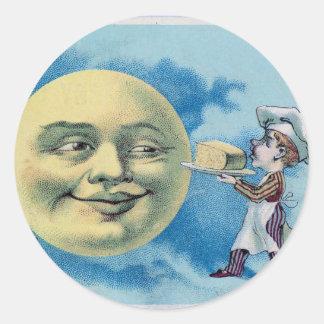 Night Sky Lights Moon Stars Astronomy Space Classic Round Sticker