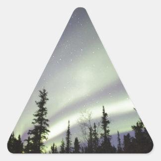 Night Sky Lights Moon Stars Astronomy Space Triangle Sticker