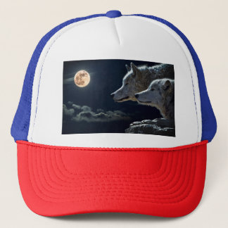 Night Sky Lights Moon Stars Astronomy Space Trucker Hat