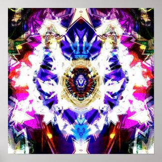 Night Sky Mandala 1 Poster