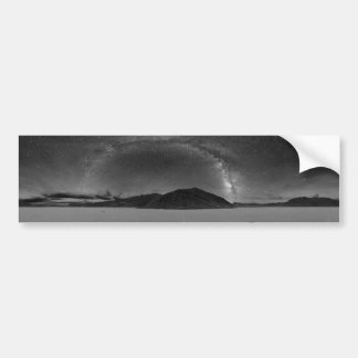 Night Sky Milky Way Panorama of Racetrack Playa Bumper Sticker