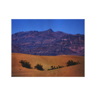 Night Sky Mountains Canvas Print