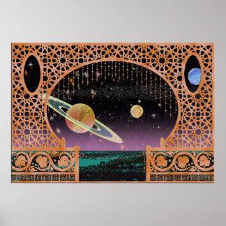 Night Sky on Risa ~ Interplanetary Travel Poster