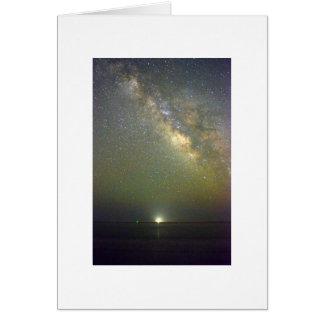 Night Sky Photo Folded Greeting Card