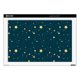 "night sky stars pattern skin for 17"" laptop"
