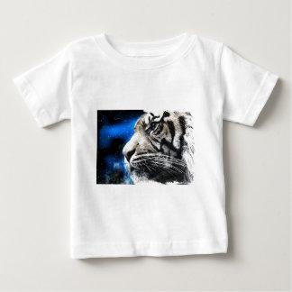 night sky stars white Tiger Baby T-Shirt