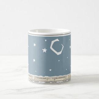 Night Sky Train Coffee Mug