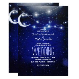 Night Sky Wedding | String Lights Invitation