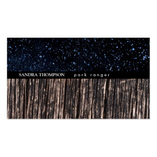 Night Sky / Wood Business Card