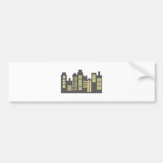 Night Skyline Car Bumper Sticker
