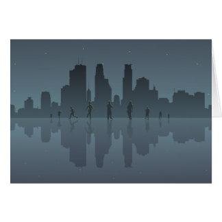 Night Skyline & Silhouettes Card
