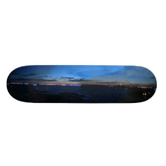 Night Skyline Skateboard Deck