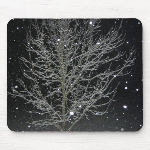 Night Snow Mouse Pad