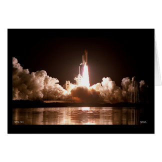 Night Space Shuttle Launch Card