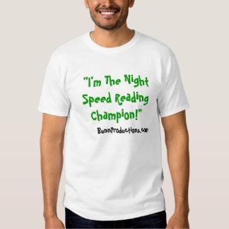 Night Speed Reading Champion Shirt