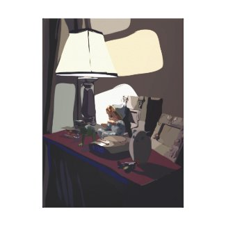 Night Stand Gallery Wrapped Canvas