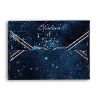Night Star Sky Celestial Galaxy Wedding Monogram Envelope