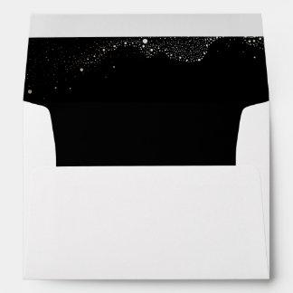 Night Stars Black Wedding Envelope