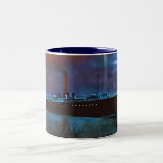 Night Steamer Two-Tone Coffee Mug