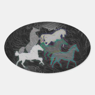 NIGHT STORM HORSE HERD STICKER