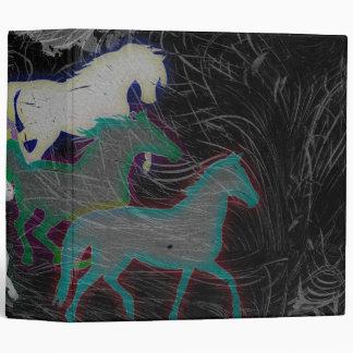 NIGHT STORM HORSE HERD VINYL BINDERS