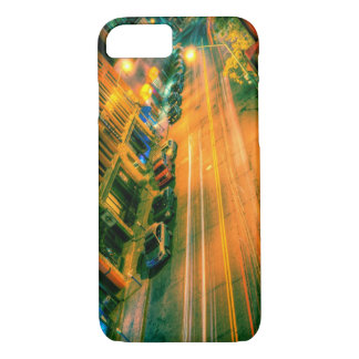 night street with car lights iPhone case