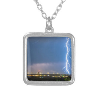 Night_Strike Silver Plated Necklace