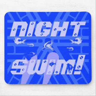 night , swim mouse pad