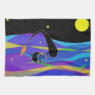 Night Swimmer Kitchen Towel