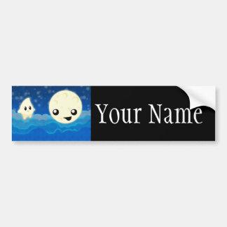 Night Tales Moon and Star Bumper Sticker